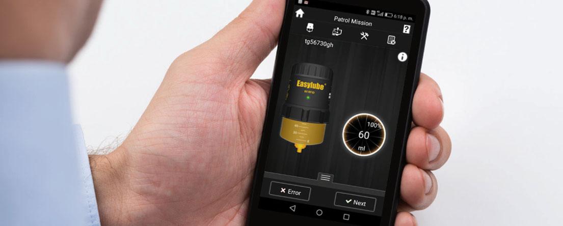 Aplicación móvil para lubricación automática